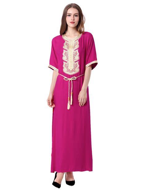 moroccan turquoise caftan maxi muslim dubai dress