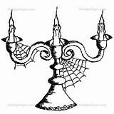 Stampotique Candelabra Coloring Stamps Goth Stamp Joggles sketch template
