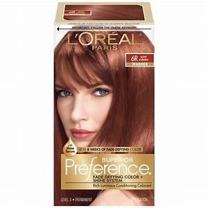 L 39 Oreal 6r Warmer Light Auburn Hair Color 1 Kt Box