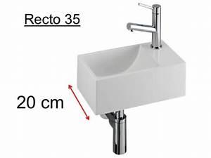 Mini Handwaschbecken Tiefe 20 Cm : badm bel waschbecken handwaschbecken lave mains waschbecken wc resin tiefe 20 cm montage ~ Buech-reservation.com Haus und Dekorationen