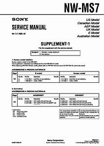 Sony Nw-ms7 Service Manual