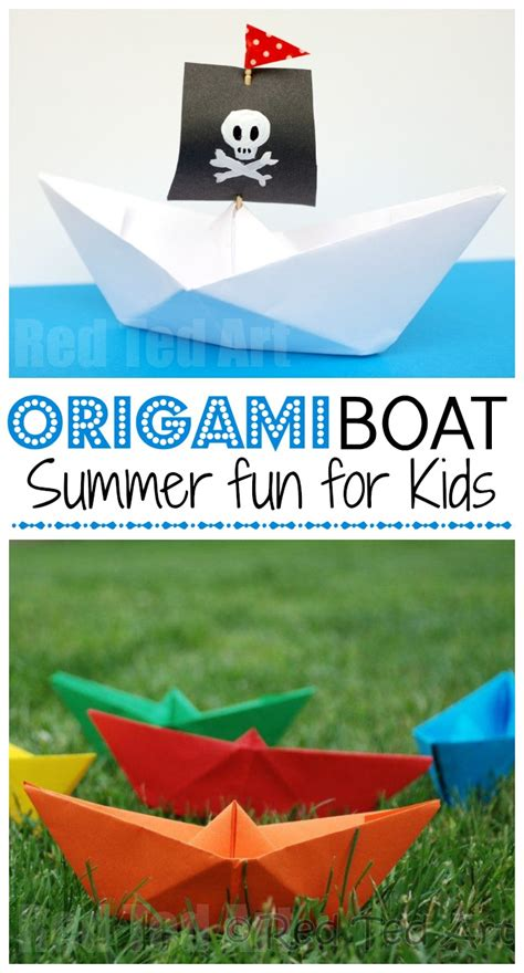 How To Make A Paper Boat Art by How To Make A Paper Boat Red Ted Art S Blog