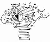 Coloring Treehouse Tree Lookout Bird Bestcoloringpagesforkids Albero Colorare Sull Casa Disegni sketch template