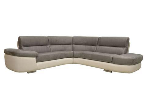salon canapé conforama canapé d 39 angle fixe droit 4 places alban coloris blanc