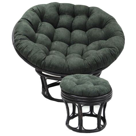 papasan chair with microsuede cushion 52 inch microsuede tufted papasan cushion dcg stores