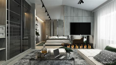 home interior design combining  cool wall texture  soft color palette roohome