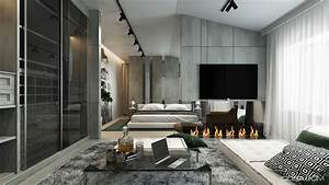 Home Interior Design Combining With Cool Wall Texture And ...