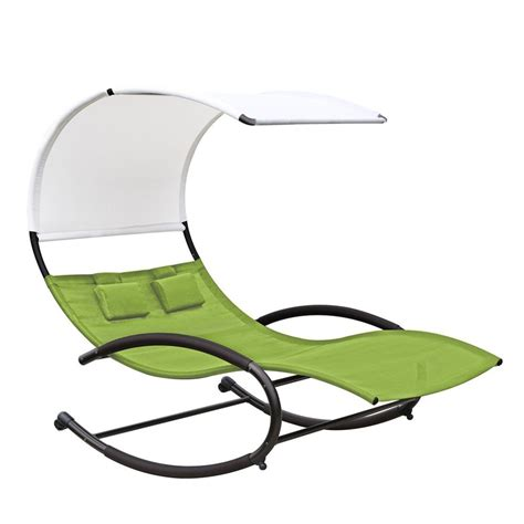 shop vivere charcoal steel patio chaise lounge at lowes