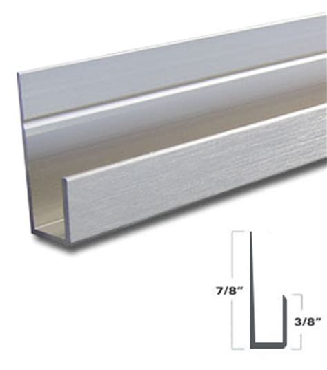 wgsonline brushed nickel aluminum j channel for 1 4