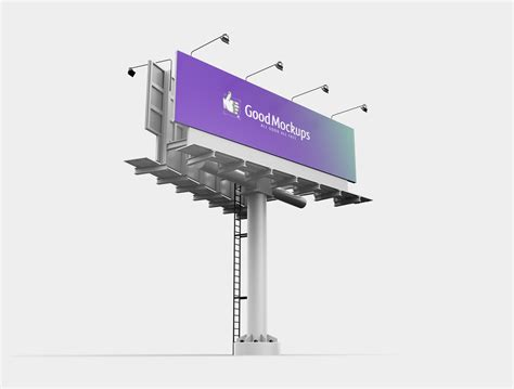 You can now use this square photo frame mockup to showcase your work in a photorealistic look. Free Outdoor Advertising 3D Billboard Mockup PSD - Good ...