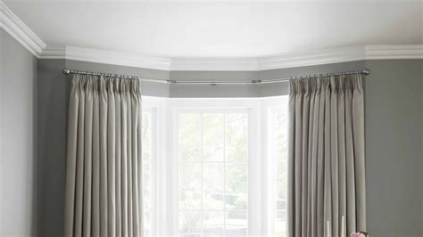 Window Curtains by Neo Bay Window Curtain Poles Heavyweight Eyelet Curtains