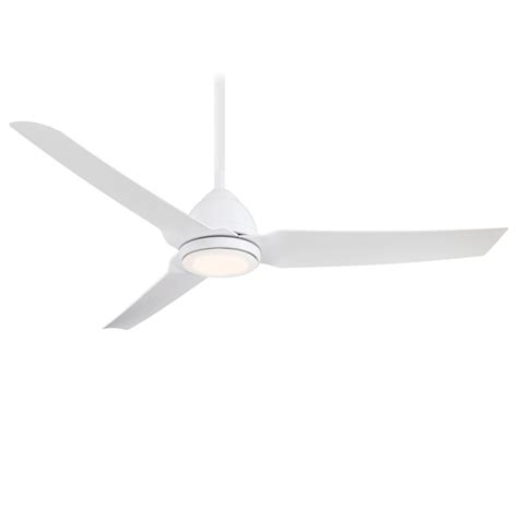 java led ceiling fan minka aire f753l whf java 1 led light 54 inch outdoor