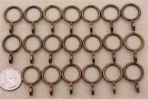 curtain rectangle metal curtain rings set of
