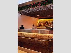 Outdoor bar area for restaurant Chunky sleeper timber bar