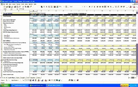 excel financial model template exceltemplates