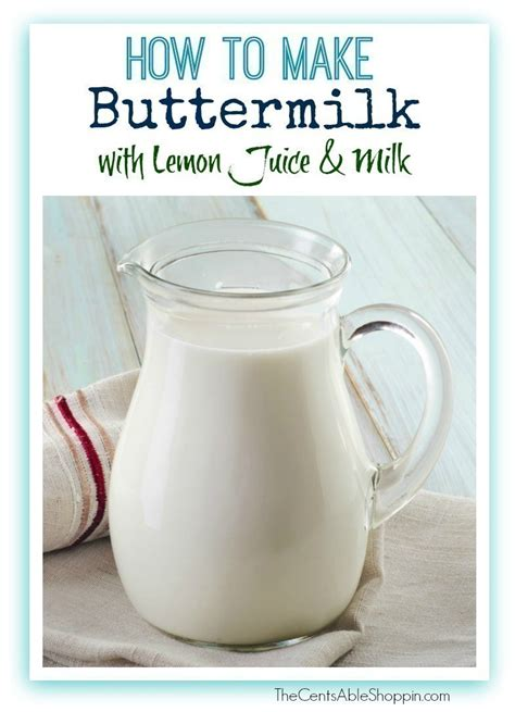 how do you make buttermilk buttermilk substitute how to make your own buttermilk
