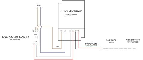 Wire Diagram 24v Driver by 1 10v Dimmable Led Driver Constant Voltage White 42w 24v