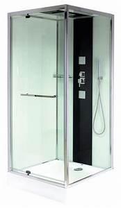 Installation Cabine De Douche : cabine de douche carr e avec porte pivotante 90x90 cm brico d p t ~ Melissatoandfro.com Idées de Décoration
