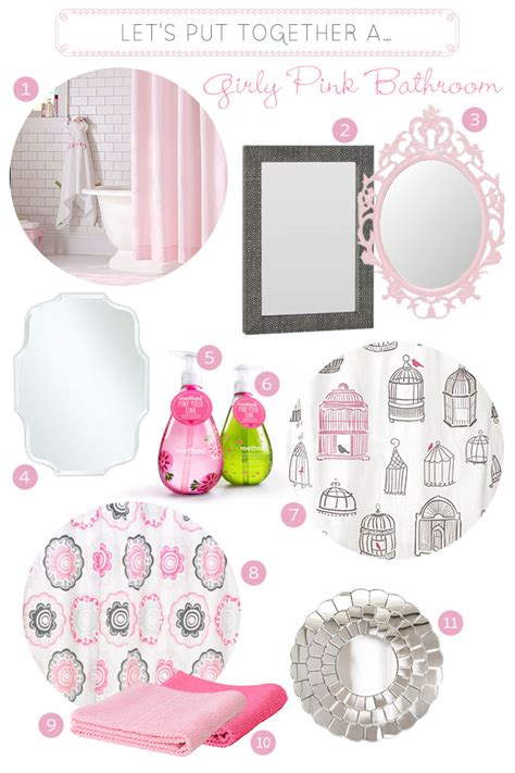 a girly pink bathroom making it lovely
