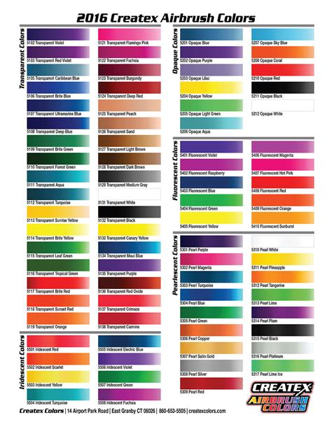auto paint colors createx colors airbrush paint direct