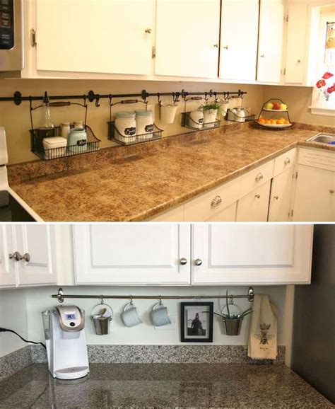 Ideas For Kitchen Counters by Top 21 Awesome Ideas To Clutter Free Kitchen Countertops