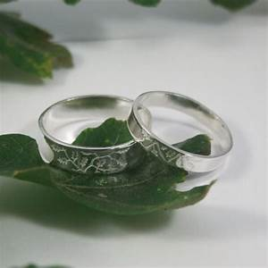 oak leaf wedding bands a set of his and hers sterling by With oak leaf wedding ring
