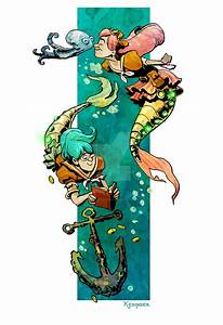little steampunk mermaids by BrianKesinger on DeviantArt