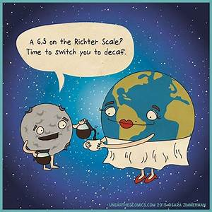 coffee humor and earth science comics about richter scale ...