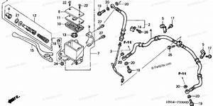 Honda Atv 2002 Oem Parts Diagram For Front Brake Master Cylinder   U0026 39 99