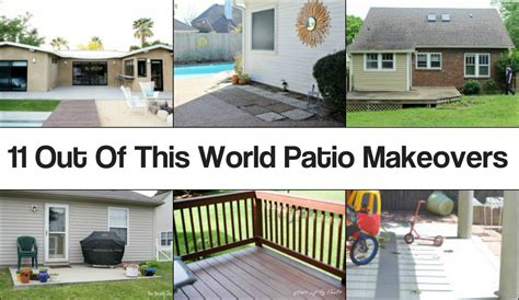Cheap Backyard Makeover by 11 Out Of This World Patio Makeovers