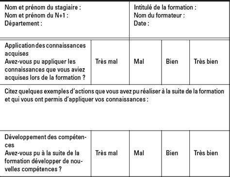 fiche d évaluation de formation modele exemple questionnaire evaluation formation document