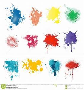 Paint splatters stock illustration Illustration of