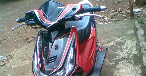 Modifikasi Motor F1 Zr Simple by Modifikasi Honda Beat Airbrush Black Modifikasi Motor