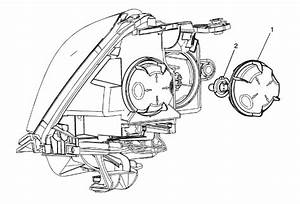 Service Manual  Remove Assembly Headlight 2009 Saturn Outlook