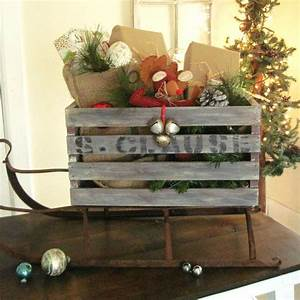 9, Gorgeous, Ways, To, Use, A, Plain, Wooden, Crate, For, Christmas