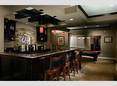 Basement Bar Ideas with Black and White Theme