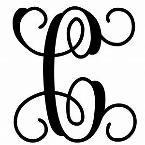 Vine monogram letter c initial initials monograms and for Initial letters