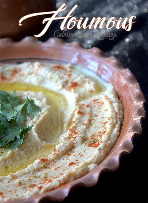 cuisine libanaise houmous recette houmous mezzé libanais au tahin recettes