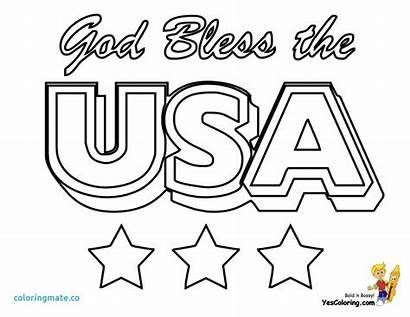 Coloring Pages Flag America Usa States Printable