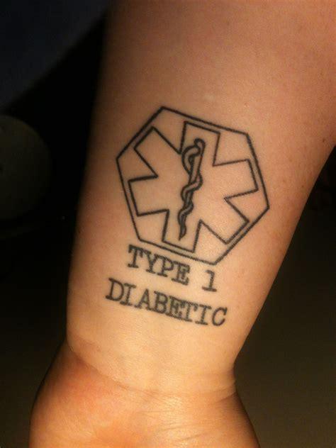 medical alert type  diabetic tattoo   brian