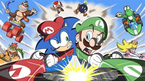 Sonic In Mario Kart Animation Game Shenanigans Doovi