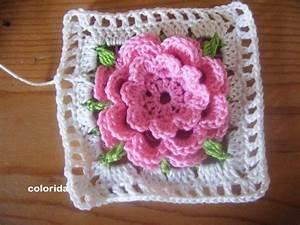 Granny Squares Häkeln : granny squares diese tolle rose blume ist mal als erstes blumen granny entstanden blumen ~ Orissabook.com Haus und Dekorationen