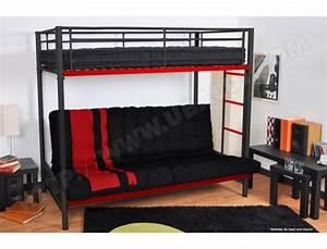 Lit Pas Cher 1 Place : lit mezzanine 2 places pas cher vente lits deux personnes ~ Teatrodelosmanantiales.com Idées de Décoration