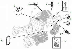 John Deere Z445 Parts