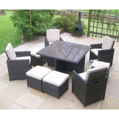 outdoor wicker table and chairs rattan wicker garden furniture table 4 chair patio set ebay