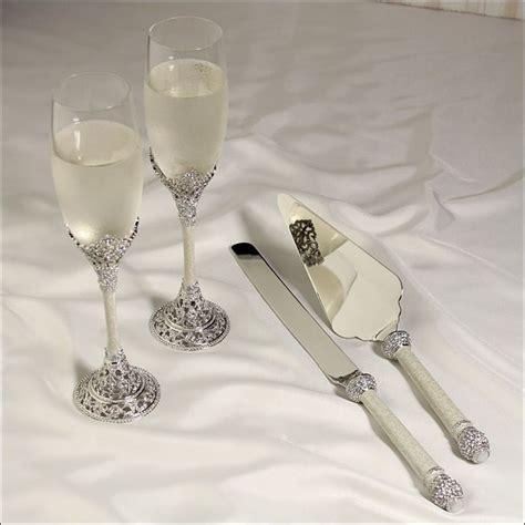 wedding toasting flutes and cake servers wedding flutes and server sets canada mini bridal 1198