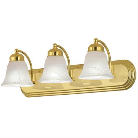 3 Light Bathroom Vanity Bath Lighting Brassgold Finish Ebay