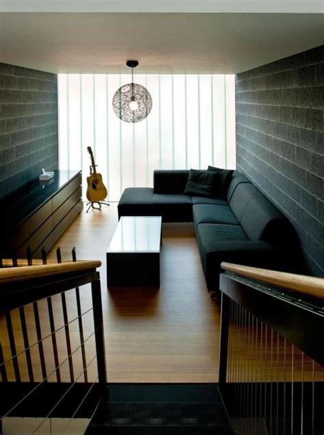 small modern living room ideas narrow living room design black sofa color with black