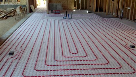 modern radiant heating systems will use pex tubing which