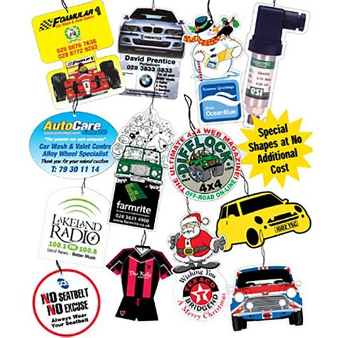 car air fresheners personalised air fresheners promotional merchandise fast lead times